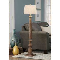 Allen Roth Edensley Saddle Floor Lamp With Fabric Shade At Lowes Create The Style You Want For Your Living Room This From