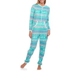 Plus Size Secret Treasures Women's and Women's Plus Microfleece Sleepwear Adult Onesie Union Suit Pajama (Sizes XS-3X), Size: 3XL, Blue