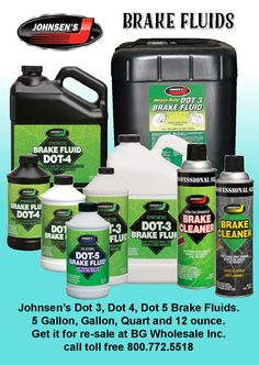 Brake Fluids and Brake Cleaners Brake Fluid, Coconut Water