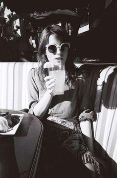ana kras by Ingrid Sophie Schram . via Pretty Much Ana Kras, Versace Designer, Michael Kors Designer, Street Style Boho, Emporio Armani, Ray Ban Sunglasses Sale, Sunnies Sunglasses, White Sunglasses, Sunglasses Women
