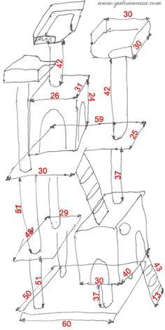 Bricogato: medidas de un árbol rascador para gatos