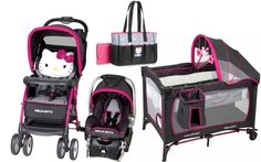 Hello Kitty Newborn Set Baby Infant Stroller Travel System Pack And Play Pink # - Baby Car Seats Newborn -Ideas of Baby Car Seats Newborn - Hello Kitty Newborn Set Baby Infant Stroller Travel System Pack And Play Pink Hello Kitty Nursery, Hello Kitty Baby, Baby Doll Strollers, Best Baby Strollers, Baby Doll Car Seat, Baby Car Seats, Pack And Play, Travel System, Baby Boy Rooms