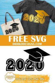 Cricut Fonts, Svg Files For Cricut, Silhouette Cameo, Grad Hat, Preschool Graduation, Book Folding Patterns, Congratulations Graduate, Free Svg Cut Files, Class Of 2020