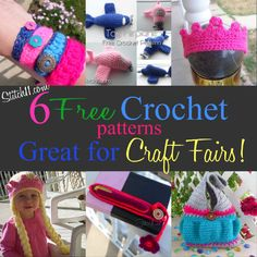 Patterns for craft fairs. The hat on the bottom left is just adorable!