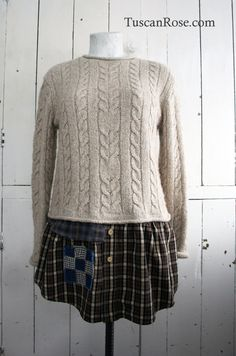 reconstructed Sweater Day Dress -