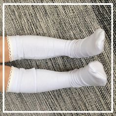 8c260e232 knee high socks baby toddler girl solid color socks with stretch lace trim