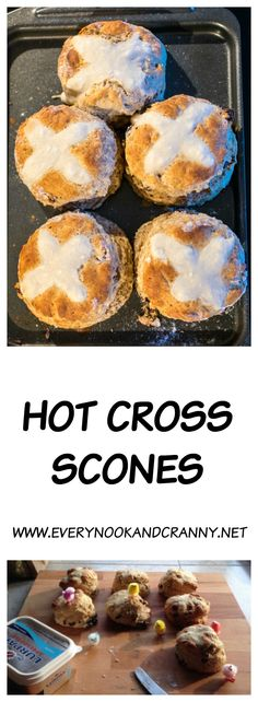 How to make super tall Hot Cross Scones. Perfect for Easter mornings or afternoon teas :D