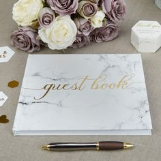 Beautiful Scripted Marble - Guest Book-silver Guest Book-Memories-Wedding Day-Christening -Anniversary-Birthday by PerfectweddingsStore on Etsy