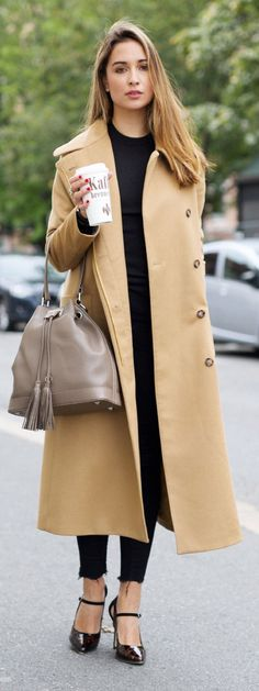 Ingrid Holm The Perfect Camel Coat street fall autumn women fashion outfit clothing style apparel @roressclothes closet ideas