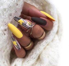 Classy Nails, Fancy Nails, Stylish Nails, Pretty Nails, Cute Nail Art, Hot Nails, Fall Nail Designs, Press On Nails, Nail Arts
