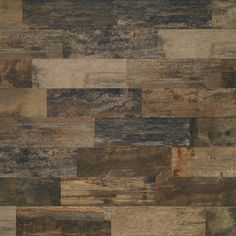 Wood look porcelain tile - Mediterranea Mountain Timber - color: NATIVE TIMBER