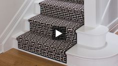 Suzanne Dimma discusses the latest looks in carpet runners, from classic stripes and fun geometric patterns to solid neutrals with colourful borders. Learn her tips for tread colour, hardware finishes and how much space to leave on either side. Flooring Near Me, Flooring For Stairs, Hallway Carpet Runners, Cheap Carpet Runners, Stair Runners, Where To Buy Carpet, How To Clean Carpet, Patterned Stair Carpet, Home