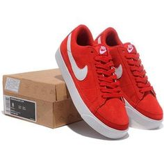 Women Nike Blazer AntiFur Low Prm Shoes White Red