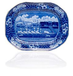 """Clews Historical Staffordshire """"Landing of Lafayette"""" Platter, - Cowan's Auctions"""