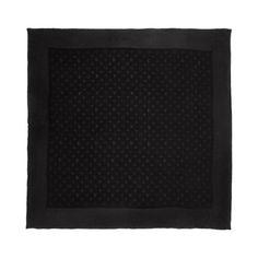 AUTHENTIC Louis Vuitton Black Monogram Monaco Square Scarf Made of 100% Silk  #LouisVuitton #Scarf