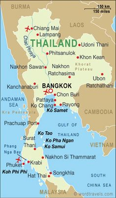 Thailand-~ map Bangkok to chaing Mai then to Phuket Thailand Beach, Thailand Vacation, Thailand Travel, Asia Travel, Map Of Thailand, Chang Mai Thailand, Thailand Nightlife, Thailand Outfit, Bucket List Travel