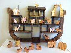 handmade wooden Noah's Ark toy shelf, ldaisykate: 29 Weeks