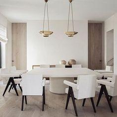 Home Interior Salas .Home Interior Salas All White Room, White Rooms, Elegant Dining Room, Dining Room Design, Home Interior Design, Home Design Decor, Interior Livingroom, Interior Office, Design Interiors