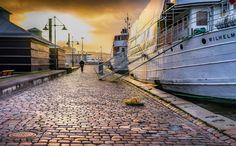 Winter stroll Winter stroll in Gothenburg harbour Sweden.