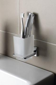 COLORADO držák kartáčků, chrom/sklo satin : SAPHO E-shop Bathroom Accessories, Colorado, Satin, Retro, Shop, Bamboo, Bathroom Fixtures, Aspen Colorado, Elastic Satin