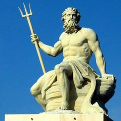 Poseidon    The Greek God - Poseidon Sculpture.One of the most powerful Greek Gods of all times.