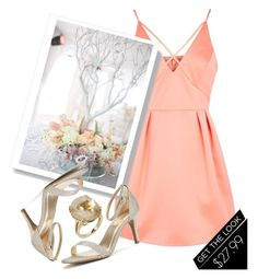 """""""Always the Bridesmaid"""" by dreampairs ❤ liked on Polyvore featuring Topshop"""