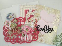 Valentine Card Kit by BuyTheScrap on Etsy