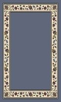 Signature Collection SymphonySolid Lapis Floral Nylon Rug