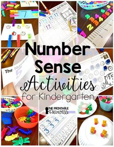 Number sense activities for Kindergarten. Make it yourself and no prep ideas to help students learn numbers to 20.