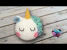 Coussin licorne: tutoriel au crochet, présenté par Lidia Crochet Tricot