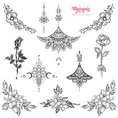 Flowers underboob tattoo designs by tattoo artist – tattoo design stock Tattoo Fairy, Hawaiianisches Tattoo, Tattoo Drawings, Sternum Tattoo Design, Mandala Sternum Tattoo, Placement Tattoo, Lion Tattoo, Tattoo Fonts, Tattoo Sketches