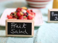 chalkboard food labels