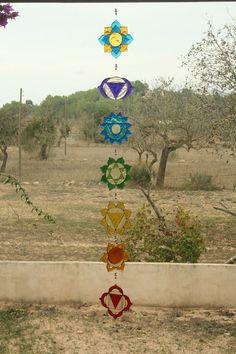 Suncatcher Set of 7 Chakras by Mownart on Etsy