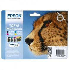 Epson Original 4 Cartridge Multipack (Cyan Magenta Yellow and Black Printer Cartridge, Black Ink Cartridge, Ink Cartridges, Stylus, Cheap Printer Ink, Photo New York, Tinta Epson, Cyan Magenta, Yellow