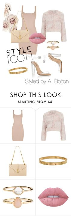 """Untitled #53"" by aboltonstyles ❤ liked on Polyvore featuring YEEZY Season 2, RED Valentino, Yves Saint Laurent, Cartier, Accessorize and Lime Crime"