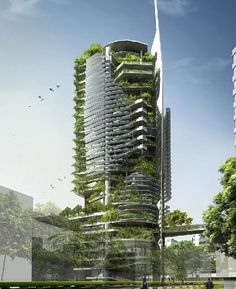Eco-Friendly Tower,Singapore