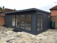 We love the location of our home but it just wasn't big enough so a garden room was the perfect solution for gaining living space without having to move. - Combination Garden Room and Living Space Summer House Paint, Summer House Garden, Outdoor Garden Rooms, Outdoor Decor, Garden Cabins, Garden Workshops, Spa Rooms, Caravan Renovation, Timber Buildings