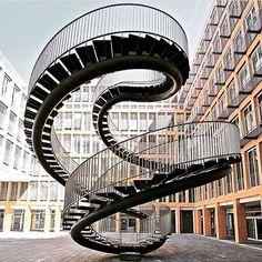 Spiral staircase sculpture / studio ola furelisson