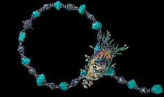 Wallace Chan Ebb and Flow NecklaceYellow Diamond 1.23ct, Aquamarine, Turquoise, Fancy Colored Diamond,Fancy Colored Sapphire, Tsavorite Garnet, Crystal/Opal.