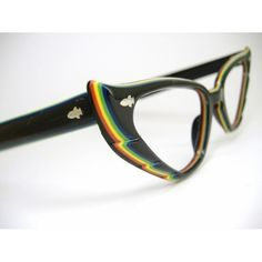 Colorful Cat eye Eyeglasses Frame  with feather edge