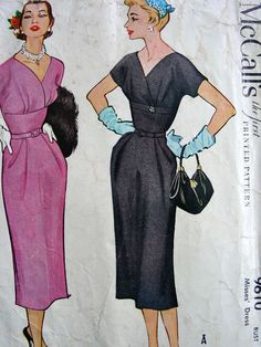 """McCall's 9610; ©1953; Misses' Dress Add a photo to the gallery by clicking the """"modify"""" button below."""