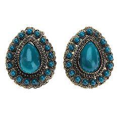 Z&X®  Retro Ancient Gem Drop Earring – USD $ 2.39