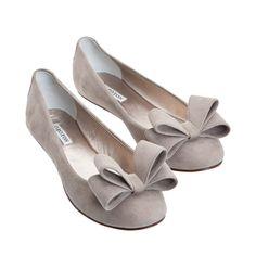 Oroton essentials bow ballet flats.