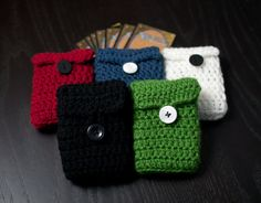 Crocheted Deck holder. I can knit this!