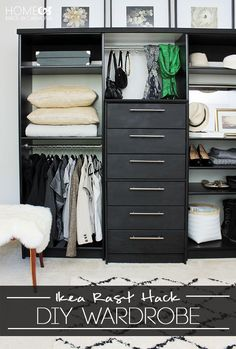 Ikea rast hack - build a freestanding wardrobe!