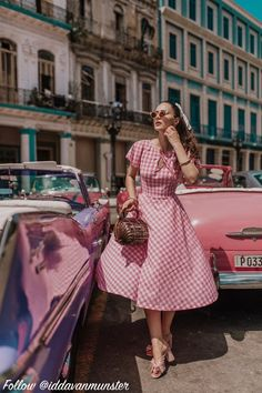 Light Pink Outfit From Bershka 50s Outfits, Vintage Outfits, Cute Outfits, Fashion Outfits, Fashion Tips, Pink Outfits, Cowgirl Style Outfits, Retro Vintage Dresses, 1940s Dresses