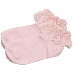 Vintage Cotton Lace Ruffle Frilly Ankle Socks Fashion Ladies Princes... (£2.11) ❤ liked on Polyvore featuring intimates, hosiery, socks, cotton ankle socks, pink frilly socks, wide socks, pink ruffle socks and lace ruffle socks
