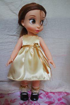 Yellow Satin Dress for Disney Animator Collection Doll