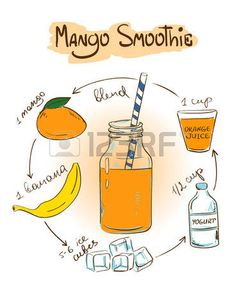 Smoothie mango 🍋💛🍌🍊🍹🍷 juicing is the best option to lose weght and to have a good health Mango Smoothie Healthy, Mango Smoothie Recipes, Raspberry Smoothie, Fruit Smoothies, Recipe Drawing, Nutrition Sportive, Recipe For Teens, Snacks Saludables, Bulletins