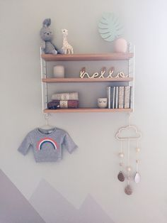 string shelving scandi nursery